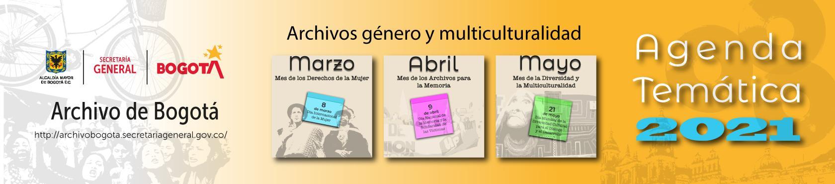 Agenda temática marzo, abril y mayo
