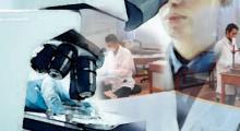 Restauradores mirando en el microscopio